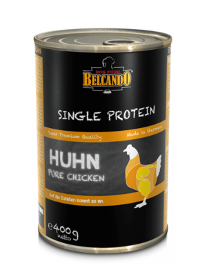 ΚΟΝΣΕΡΒΑ ΣΚΥΛΟΥ BELCANDO SINGLE PROTEIN CHICKEN 400g
