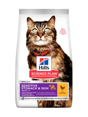 ΓΑΤΟΤΡΟΦΗ HILLS SP ADULT DIET SENSITIVE STOMACH-SKIN 1.5kg